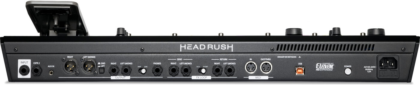 HEADRUSH PEDALBOARD:リアパネル