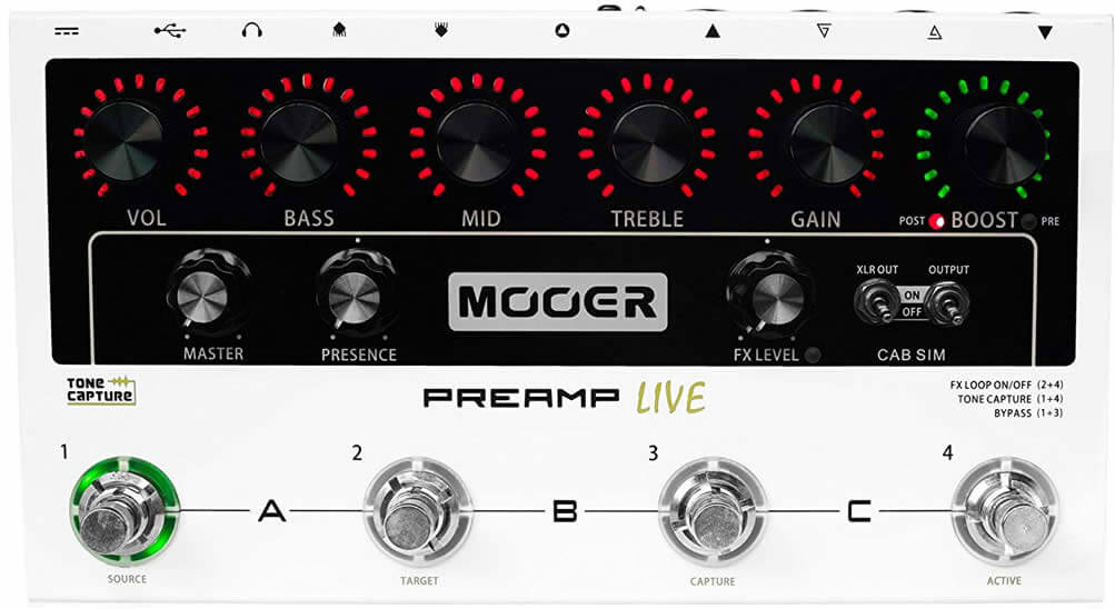 Mooer Preamp Live:コントロール