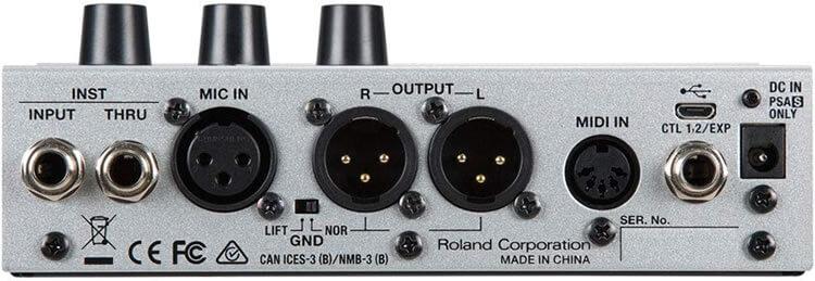 BOSS VE-500:リアパネル